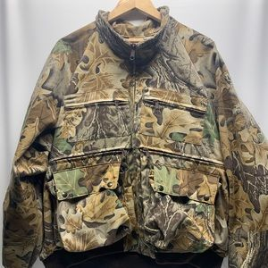 Woolrich 2XL Camo Hunting Jacket built in padding